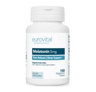 MELATONIN 5mg Time Release 100 Vegetarian Tablets by EuroVital