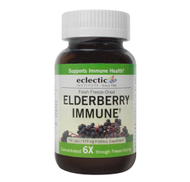 ELDERBERRY IMMUNE SUPPORT Fresh Freeze-Dried 475mg 90 Vegetarian Capsules by Eclectic Institute