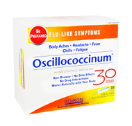OSCILLOCOCCINUM for FLU-LIKE SYMPTOMS Homeopathic 0.04oz each 30 Doses by Boiron