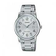 Casio Stainless Steel Silver Dress Watch For Men - MTP-V002D-7BUDF V002D
