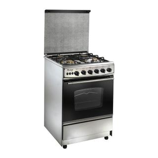 Unionair Uniontech Gas Cooker: 4 Burners: 85x55 cm: Silver Black - C5555SV-170